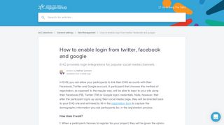 How to enable login from twitter, facebook and google | Bang The ...
