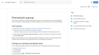 Find and join a group - Groups Help - Google Support