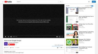 How to use Google Groups - YouTube