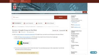 Access a Google Group on the Web - Knowledgebase / Email and ...