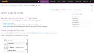 OAuth 2 Google service - MoodleDocs