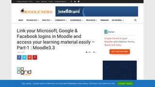 Link your Microsoft, Google & Facebook logins in Moodle and access ...