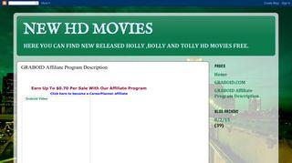 NEW HD MOVIES: GRABOID Affiliate Program Description