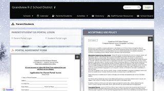 Parent/Students Parent/Student SIS Portal Login Acceptable Use ...