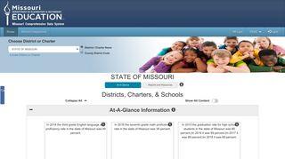 MCDS - DESE Web Applications - MO.gov