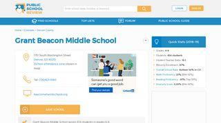 Grant Beacon Middle School Profile (2018-19)   Denver, CO