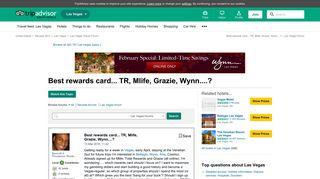 Best rewards card... TR, Mlife, Grazie, Wynn....? - TripAdvisor