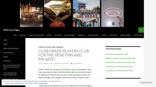 Club Grazie Players Club for the Venetian and Palazzo - Mark's Las ...