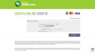 Create Online User ID - Green Dot | Get a Card