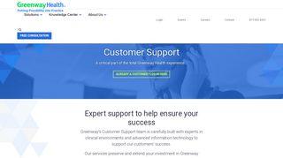 Customer Support   Greenway Health