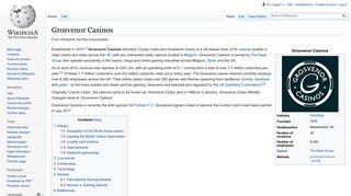 Grosvenor Casinos - Wikipedia