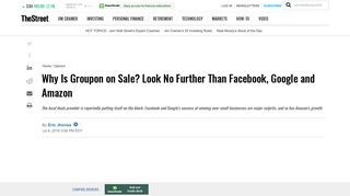 Why Is Groupon on Sale? Look No Further Than Facebook, Google ...