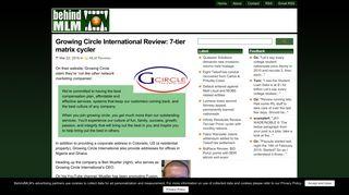 Growing Circle International Review: 7-tier matrix cycler - BehindMLM