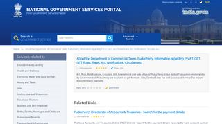 About the Department of Commercial Taxes, Puducherry. Information ...