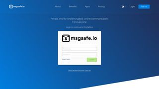 Login to your account | MsgSafe.io