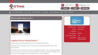 GTRAK UK :: System login