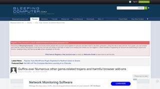 Guffins.exe/ Numerous other game-related trojans and harmful ...