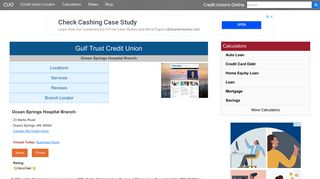 Gulf Trust Credit Union - Ocean Springs, MS at 23 Marks Road
