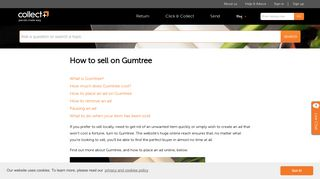 How to sell on Gumtree   CollectPlus