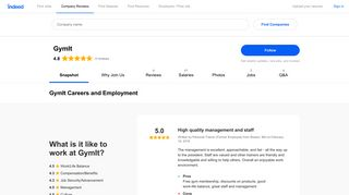 GymIt Careers and Employment | Indeed.com