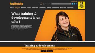 Training & Development in Halfords Retail   Halfords Careers
