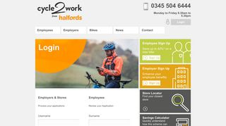 Login - Employers & Employees   Halfords Cycle2Work