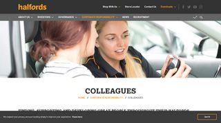 Colleagues - Halfords Group plc