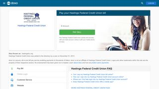 Hastings Federal Credit Union: Login, Bill Pay, Customer Service and ...
