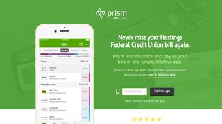 Pay Hastings Federal Credit Union with Prism • Prism - Prism Bills