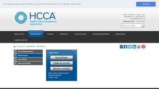My Account - Health Care Compliance Association