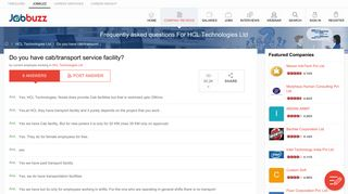 Frequently asked questions For HCL Technologies Ltd - JobBuzz