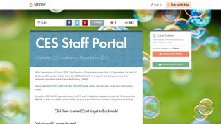CES Staff Portal | Smore Newsletters