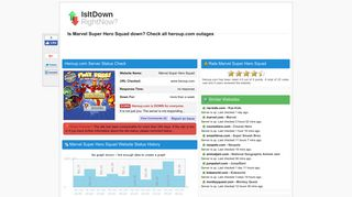 Heroup.com - Is Marvel Super Hero Squad Down Right Now?