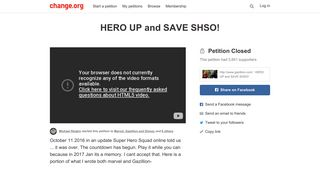 Petition · http://www.gazillion.com/ : HERO UP and SAVE SHSO ...