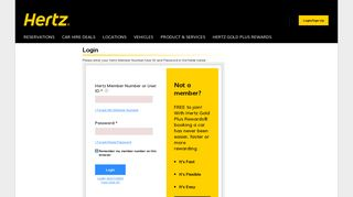 Update your Gold profile now - Hertz