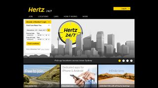 Hertz 24/7 - Australia - drive by the hour from $6