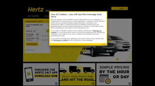 Hertz 24/7™ - Hourly Car and Van Rental. Rent by the hour, at any hour.