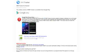 Gizmoquip SMS Tracker - Download