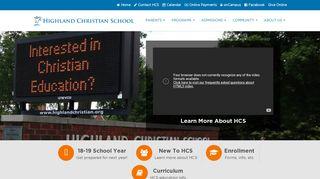 Highland Christian School: Home