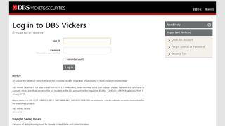Log in to DBS Vickers - DBS Vickers Online Trading
