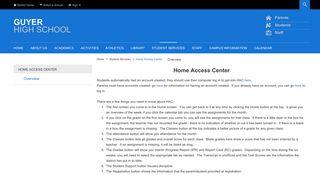 Home Access Center / Overview - Denton ISD