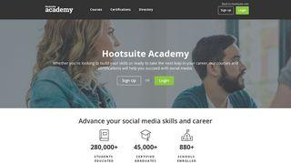 Hootsuite Academy: Social Media Marketing & Platform Courseware