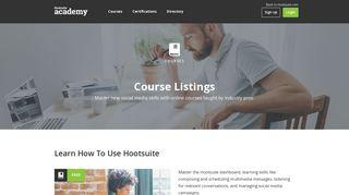 Free Social Media Marketing & Platform Courses - Hootsuite Academy