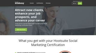 Social Marketing Certification - Hootsuite Academy
