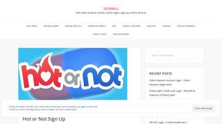 Hot or Not Account Login | www.hotornot.com | Hot or Not Sign Up