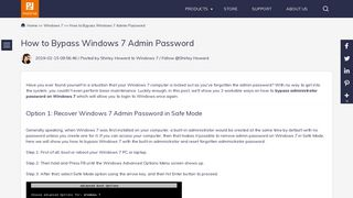 Top 3 Ways to Bypass Admin Password on Windows 7 - PassFab