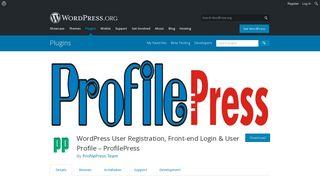 WordPress User Registration, Front-end Login & User Profile ...