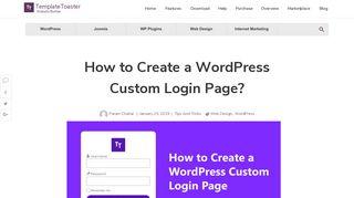 How to Create a WordPress Custom Login Page?
