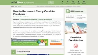 How to Reconnect Candy Crush to Facebook: 12 Steps (with Pictures)