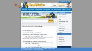 Secure cPanel Login « HostGator.com Support Portal